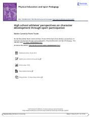 High school athletes perspectives on character development through sport participation.pdf