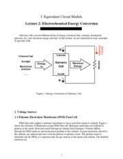 Electrochemical Energy Conversion notes