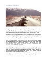 Bencana Alam Gempa Bumi Docx Bencana Alam Gempa Bumi Tribunnews Com Kliping Bencana Alam Tentang Gempa Bumi Adalah Guncangan Atau Guncangan Yang Course Hero