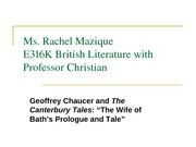 CHAUCER WIFE OF BATH LECTURE