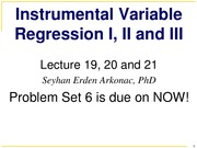 Lecture 19_20_21 _Instrumental Variables part I II and III__Fall 2014