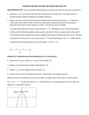 Guidelines for Using the First & Second Derivative Test.pdf
