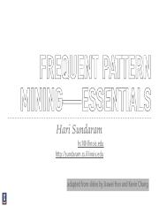 Lecture 06, Frequant Pattern Mining Essentials part 1.pdf