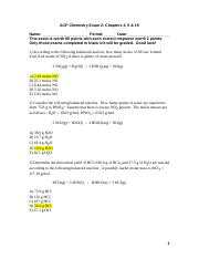 ACP Chemistry Exam 2 Chapters 4, 5 & 15 2011.doc