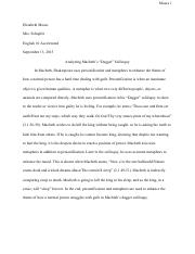 "Macbeth's ""Dagger"" Soliloquy Analysis"
