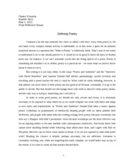 Defining Poetry - Final Reflection