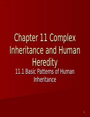 Chapter 11 Complex Inheritance and Human Heredity.ppt