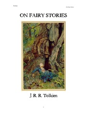 TOLKEIN On Fairy Stories