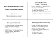 Product Reliability Management