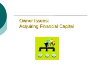 Posted - Acquiring Financial Capital