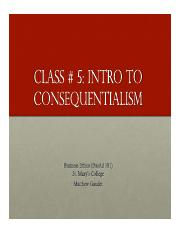 Business Ethics Class 5 - Consequentialism