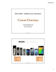 EECS 4443 Course Overview