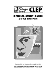 CLEP Taking Clep Exam Guide (2002 Reduced)