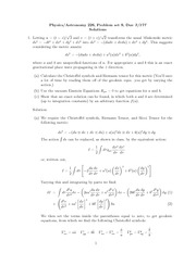Problem Set 9 Solution on General Relativity