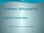 Annotated__Bibliographies_Powerpoint2009Fall