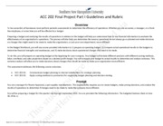 ACC 202 Final Project Part I Assignment