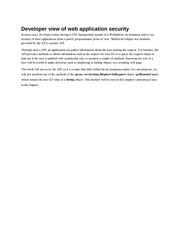 Developer view of web application security