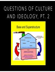 Questions of Culture and Ideology 2 Spring 2017