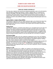 Employee Rights & Discipline Study Note