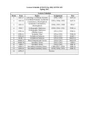 Schedule -Standars-Line quality.docx