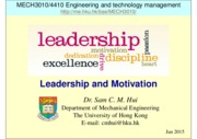 MECH3010_1415_05_leadership_and_motivation