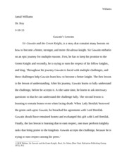 Jamal Williams Essay 4, Class 10