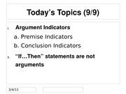 Argument Indicators