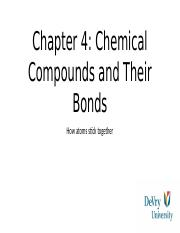 Chem ch.4 chemicals and compounds and their bonds