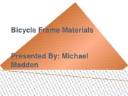 Bicycle Frame Materials