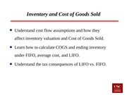 Lecture 13&14  Inventory and Cost of Goods Sold