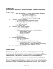 Constitutional Democracy Promoting Liberty and Self-Government Study Guide