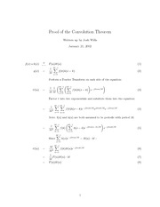 notes-Convolution Theorem
