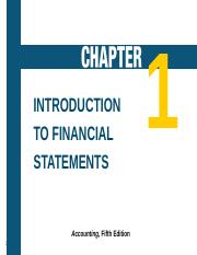 Chapter One Accounting .ppt