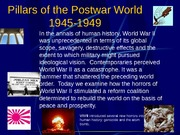 Pillars of the Postwar World