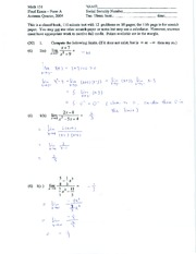 Sample Math 131 Final (2004) - (Solutions)