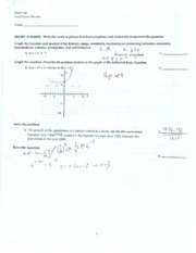 CSN - MATH 126 - FINAL EXAM REVIEW #2