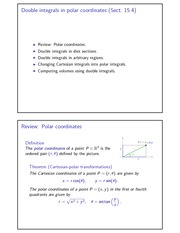 Double integrals in polar coordinates