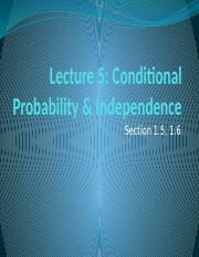 Lecture 5 Conditional Probability.pptm