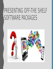Off-the Shelf Software Packages.pptx
