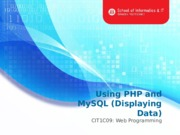 L13 Using PHP and MySQL(Query) (1)