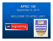 Welcome to APSC