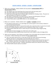 ECON I EXAM 1 STUDY GUIDE SP 2014 (BB)