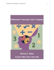 Mathematics Tutoring Center Campaign.docx