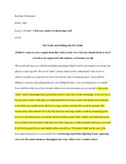 Essay 2; The Truth and Nothing but The Truth_Peer Review.docx
