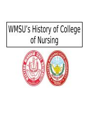 WMSU_s History of College of Nursing