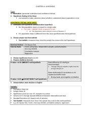 Ch11 Print Doc Chapter 11 Hypothesis Types 1 Estimation Parameter