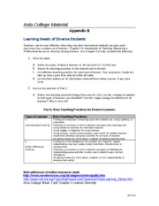 AED 201 UOP Homework,AED 201 UOP Tutorial,AED 201 UOP Assignment Flashcards Preview