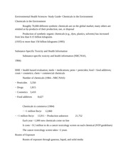 Environmental Health Sciences- Study Guide- Chemicals in the Environment