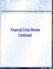 4.Financial Crisis Review Continued.ppt
