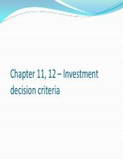 Chapter 11, 12 – Investment decision criteria.pdf